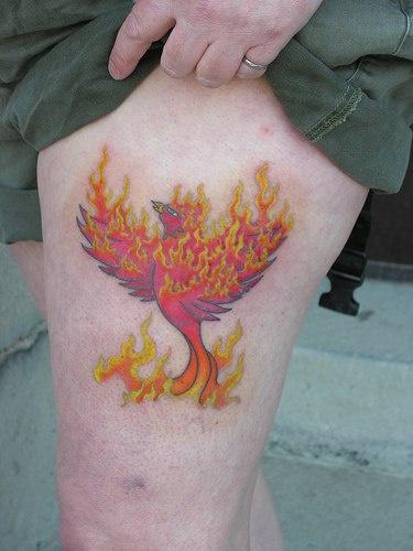 epic firebird amazing tattoo. Black Bedroom Furniture Sets. Home Design Ideas